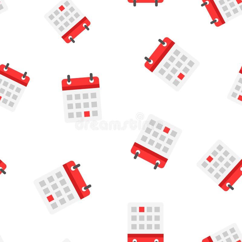 Achtergrond van het het pictogram de naadloze patroon van de kalenderagenda bedrijfsconce vector illustratie