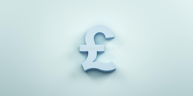 Achtergrond van het Pund de monetaire symbool 3d geef illustratie terug vector illustratie