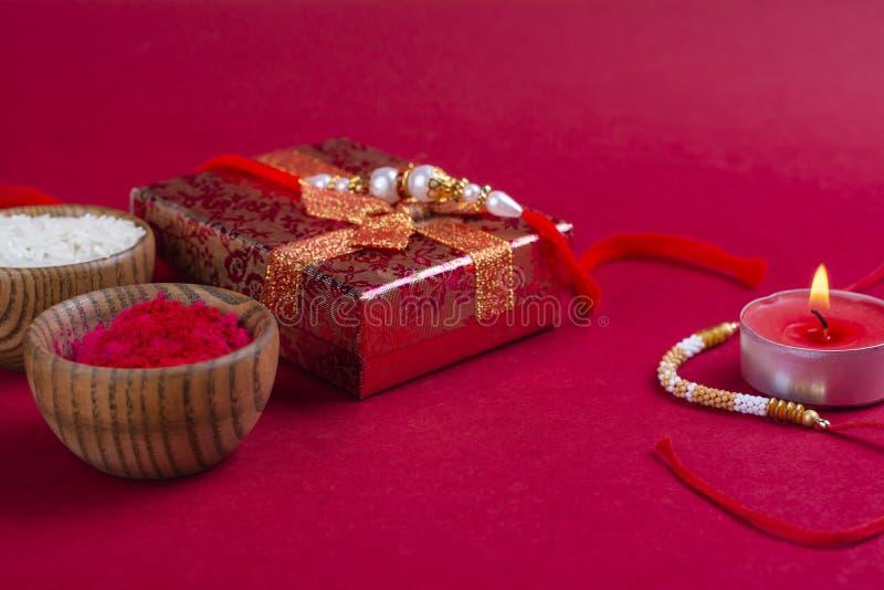 Achtergrond van het Raksha de bandhan festival royalty-vrije stock afbeeldingen