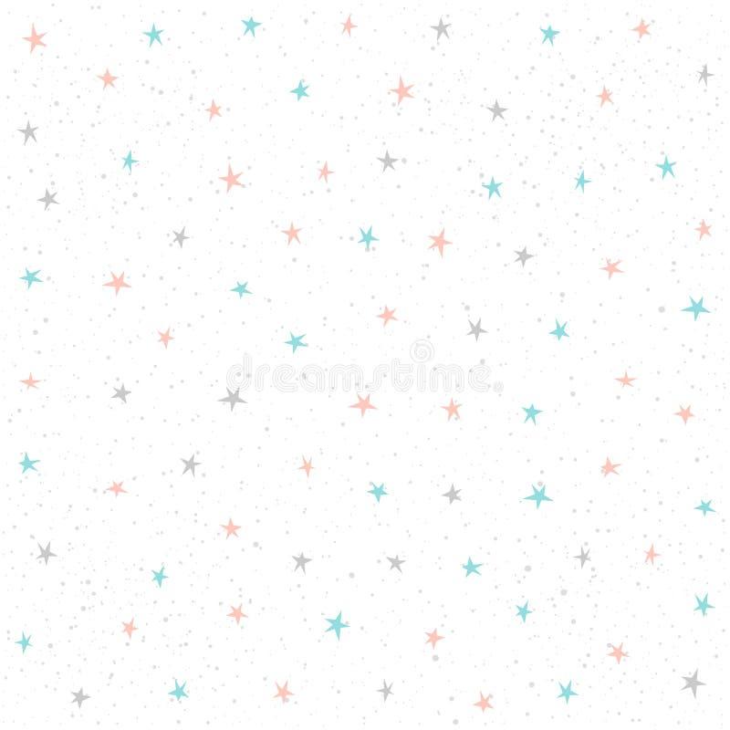 Achtergrond van het ster de Naadloze Patroon royalty-vrije illustratie