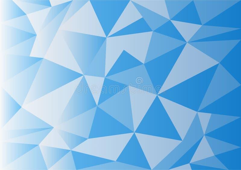 Achtergrond van het vectorontwerp van de kristaldriehoek royalty-vrije illustratie