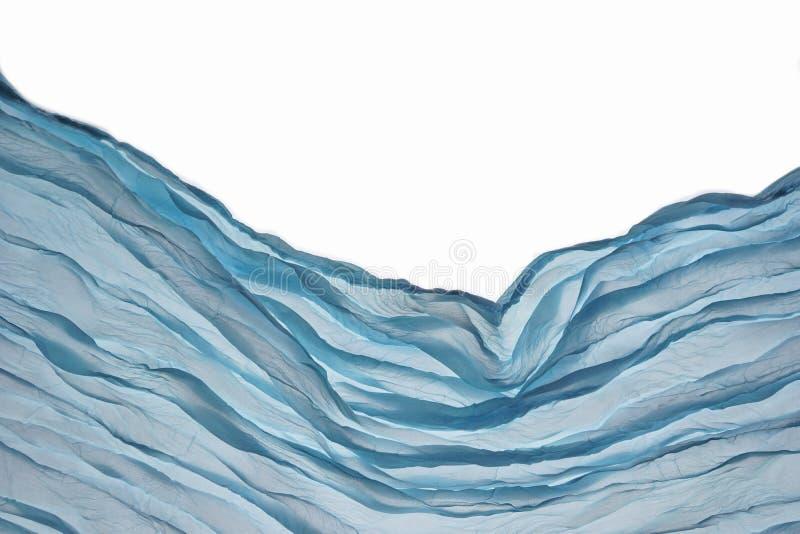 Achtergrond van hoek de Blauwe Aqua Water Wavy Fabric Textured stock afbeelding