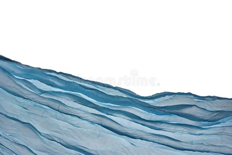 Achtergrond van hoek de Blauwe Aqua Water Wavy Fabric Textured stock foto