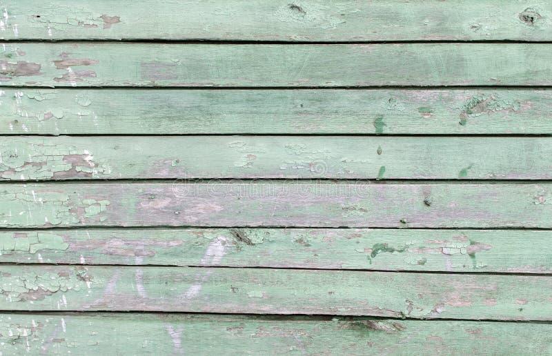 Achtergrond van horizontale groene raad stock afbeelding