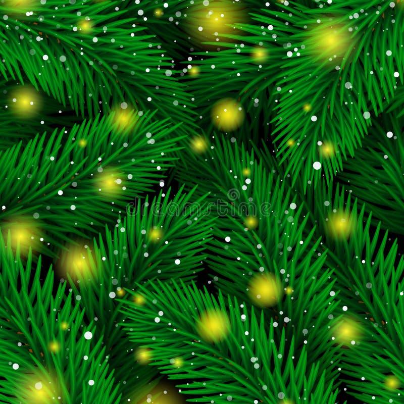 Achtergrond van Kerstboomtakken Magische Luxespar royalty-vrije illustratie