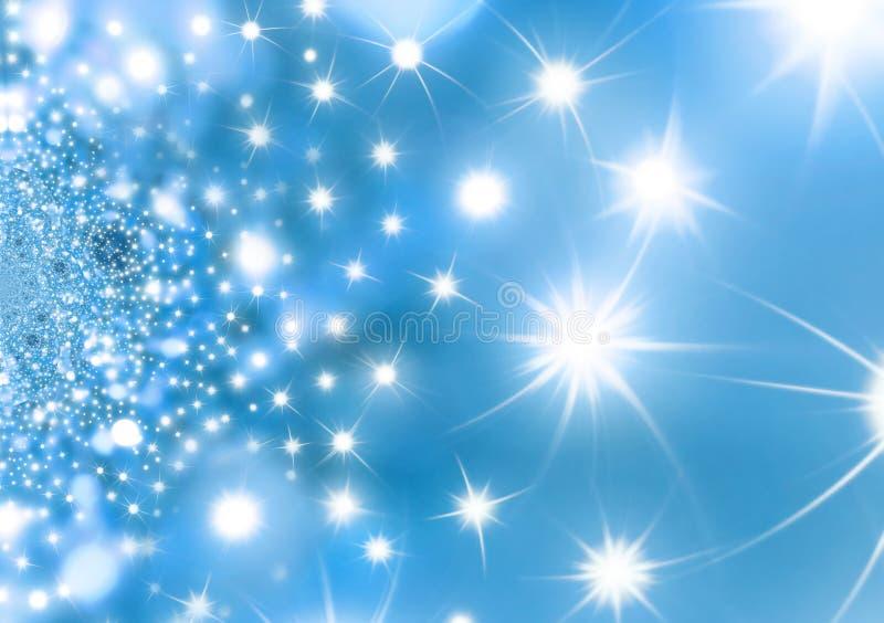 Achtergrond van Kerstmis van de sterrige Nacht de Blauwe royalty-vrije illustratie