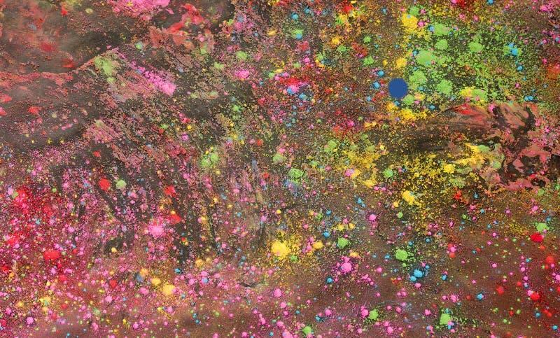 Achtergrond van kleurrijk Holi-poeder stock foto