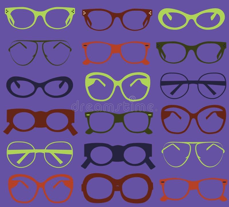 Achtergrond van kleurrijke zonnebril. stock illustratie