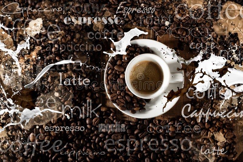 Achtergrond van kop van koffie royalty-vrije stock fotografie