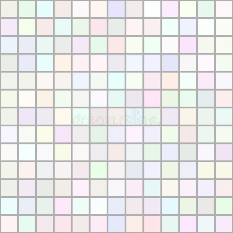 Achtergrond van kunst gekleurd licht vierkantenmozaïek stock illustratie