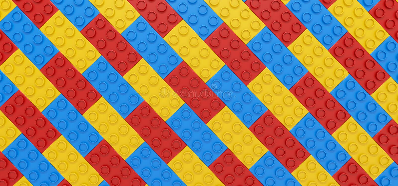 Achtergrond van multi-colored delenontwerper - 3D illustratie royalty-vrije illustratie
