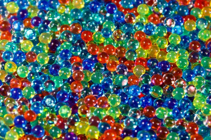 Achtergrond van multicolored hydrogelballen royalty-vrije stock afbeelding