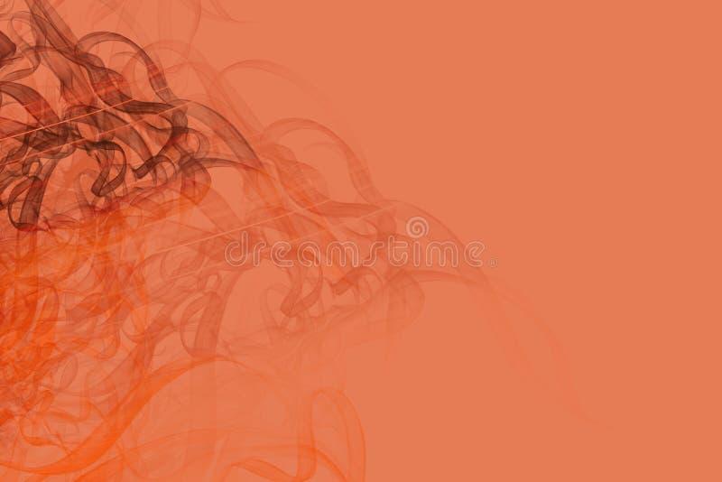 Achtergrond van oranje ruimte en rook royalty-vrije stock foto's