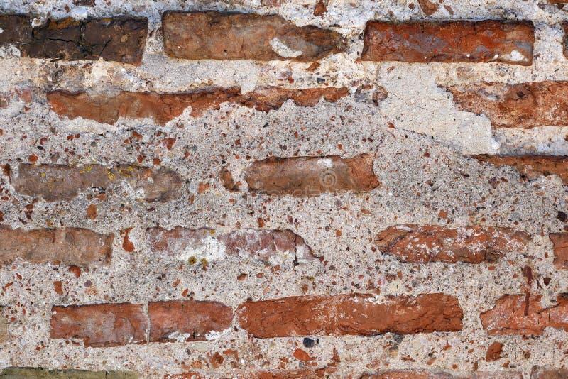 achtergrond van oude bakstenen muur, zeldzaam metselwerk royalty-vrije stock afbeelding