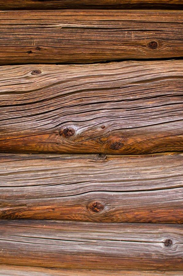 Achtergrond van oude bruine logboeken royalty-vrije stock afbeeldingen