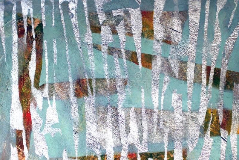 Achtergrond van oude muur met unpainted gekleurde vlekken royalty-vrije stock afbeeldingen
