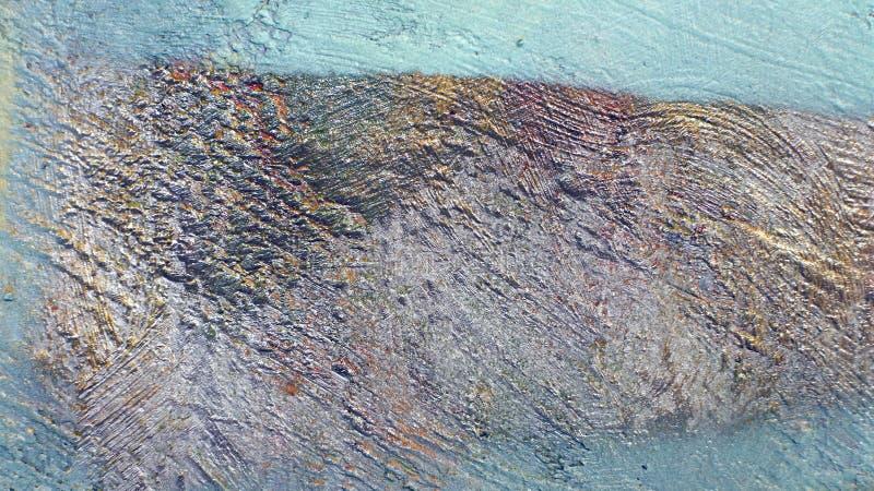 Achtergrond van oude muur met unpainted gekleurde vlekken stock afbeelding