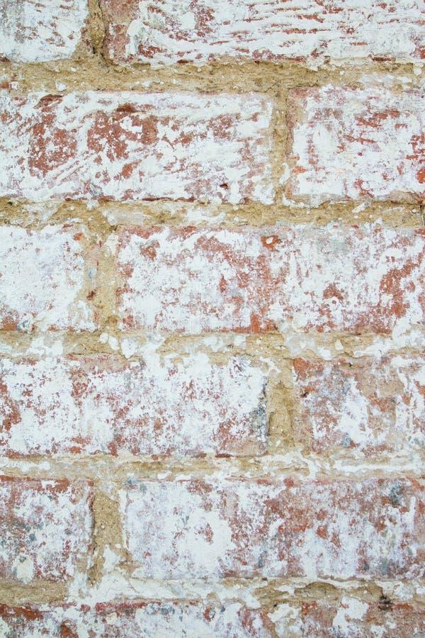 Achtergrond van oude muur van rode baksteen stock fotografie