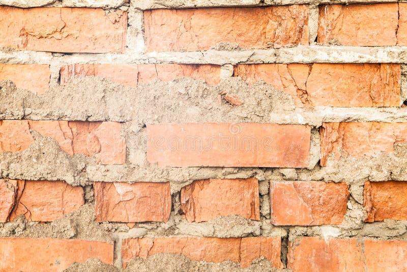 Achtergrond van oude muur van rode baksteen royalty-vrije stock afbeelding