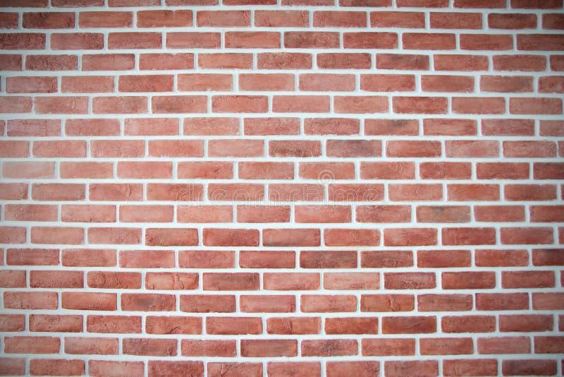 Achtergrond van oude uitstekende rode bakstenen muur stock fotografie