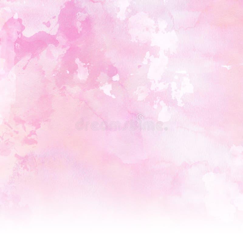 Achtergrond van pastelkleur de roze watercolour royalty-vrije illustratie