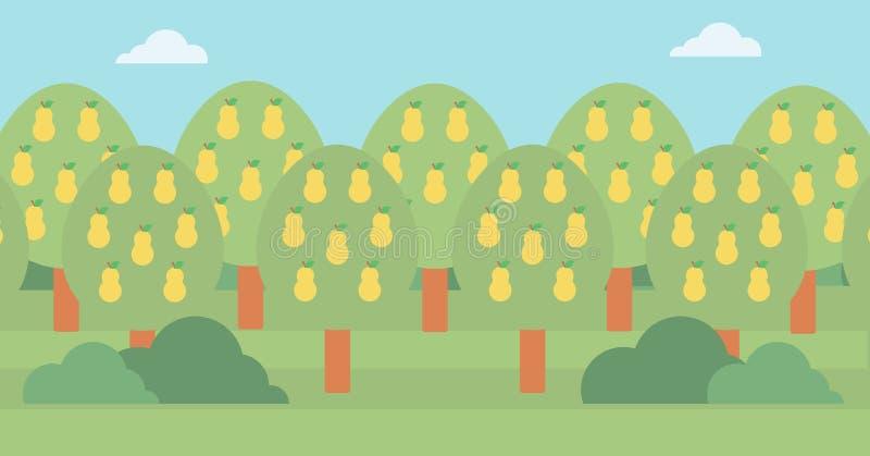Achtergrond van perenbomen stock illustratie