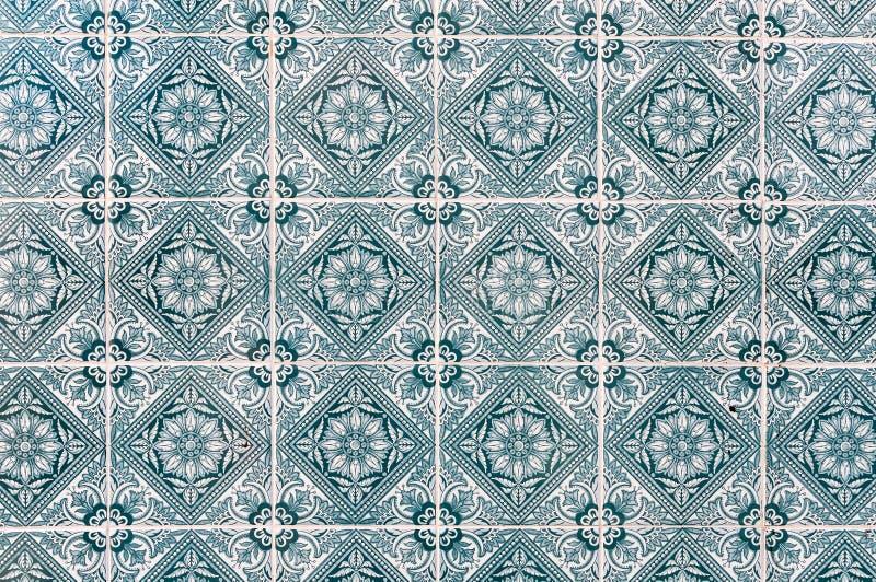 Achtergrond van Portugese keramische tegels genoemd wordt gemaakt azulejos die royalty-vrije stock foto's