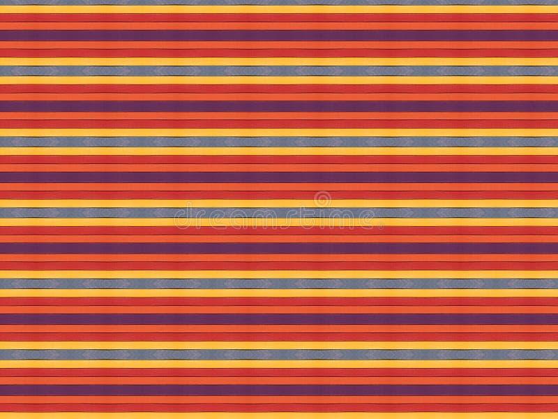 Achtergrond van raad die in helder kleuren violet oranjegeel rood wordt geschilderd stock illustratie