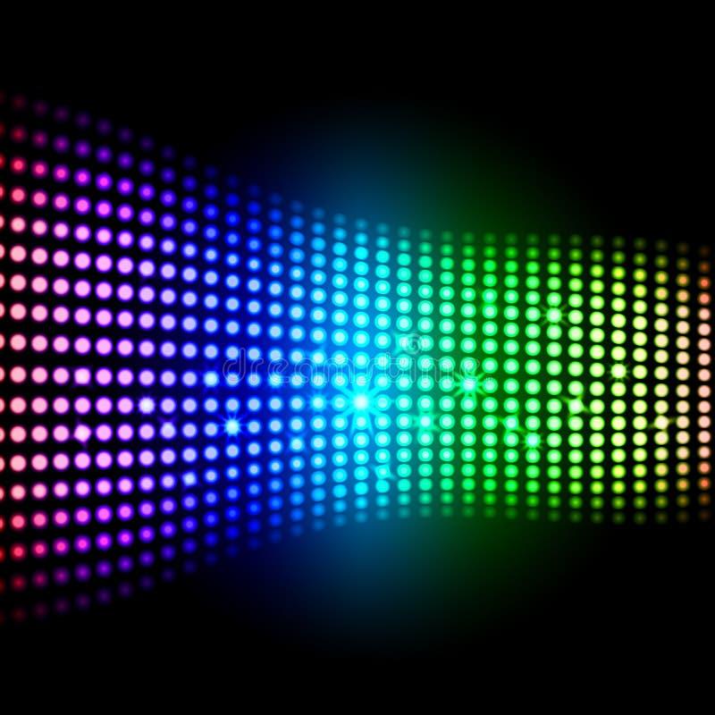 Achtergrond van regenboog toont de Lichte Vierkanten vector illustratie