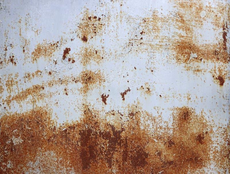 Achtergrond van roestige metaaltextuur stock foto's