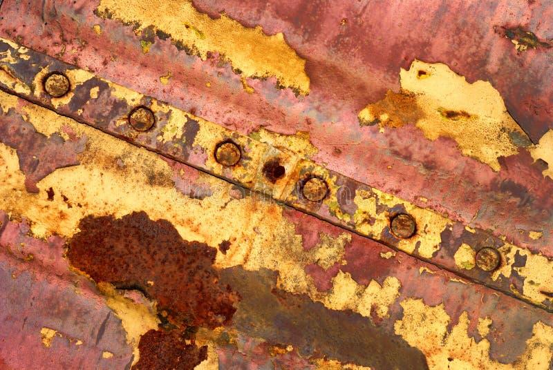 Achtergrond van rood geschilderd ijzer stock afbeelding