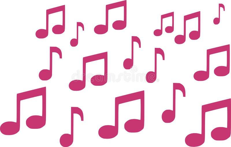 Achtergrond van roze muzieknota's vector illustratie