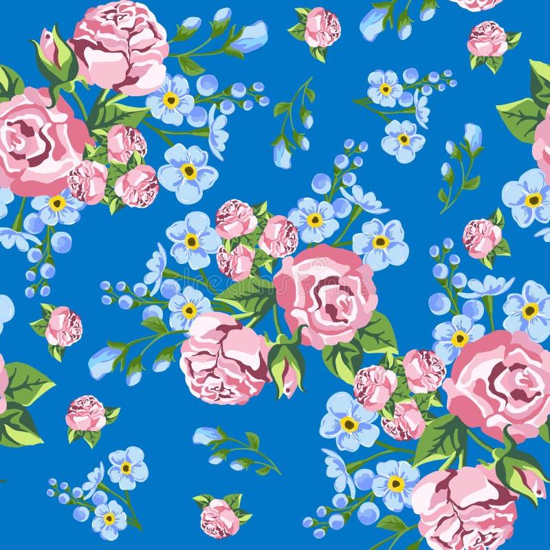 Achtergrond van rozen Naadloos patroon stock illustratie