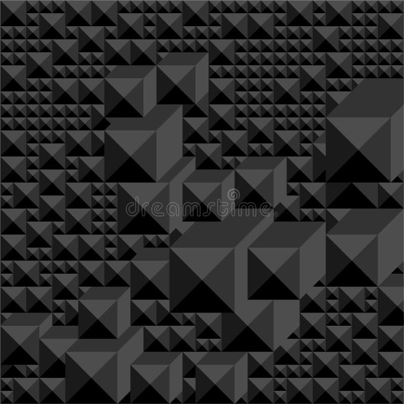 Achtergrond van schaduwen van zwarte in de vorm van een grafisch geometrisch volumemozaïek stock illustratie