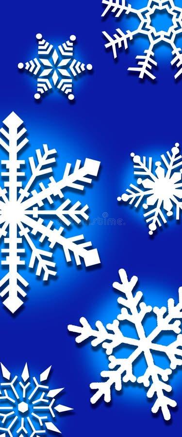 Achtergrond van sneeuwvlokken stock illustratie