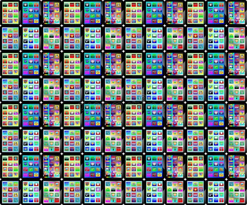 Achtergrond van tabletten royalty-vrije illustratie