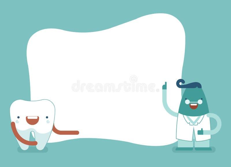 Achtergrond van tand, tand en tandarts set1 stock illustratie