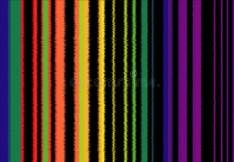 Achtergrond van trillende gekleurde banden, gelijkend op het beeld van correcte golven royalty-vrije illustratie