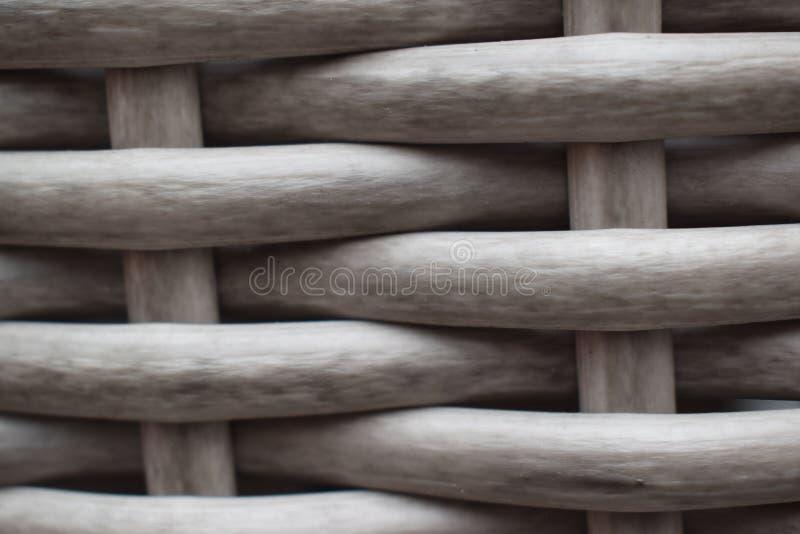 Achtergrond van verdraaide houten bar textue wilg royalty-vrije stock fotografie