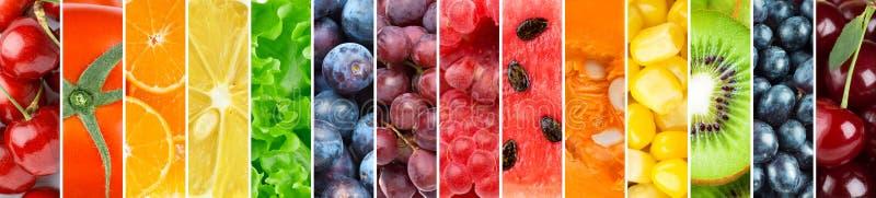 achtergrond van verse vruchten en groenten royalty-vrije stock foto's