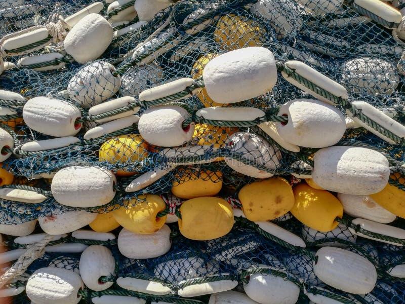 achtergrond van visnet en vlotters in Thailand royalty-vrije stock foto's