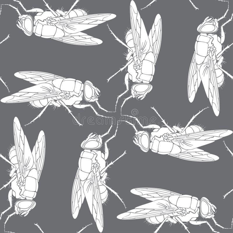 Achtergrond van vlieg vector illustratie