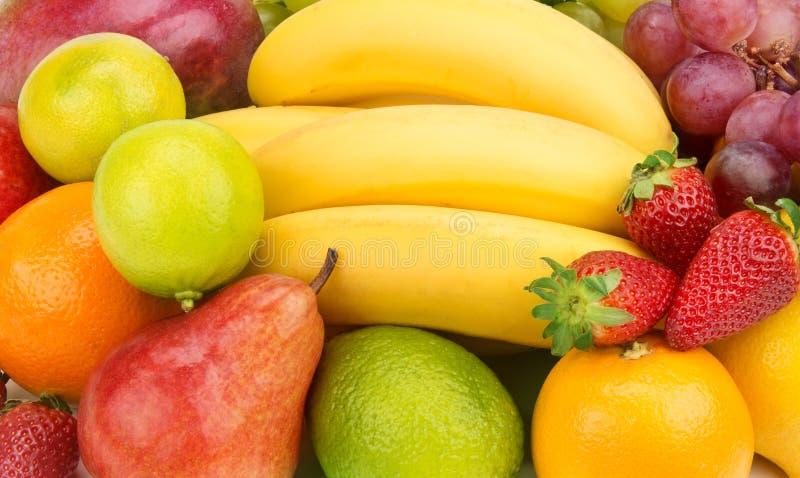 achtergrond van vruchten en bessen royalty-vrije stock afbeelding