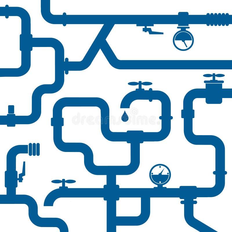 Achtergrond van waterpijpleiding vector illustratie