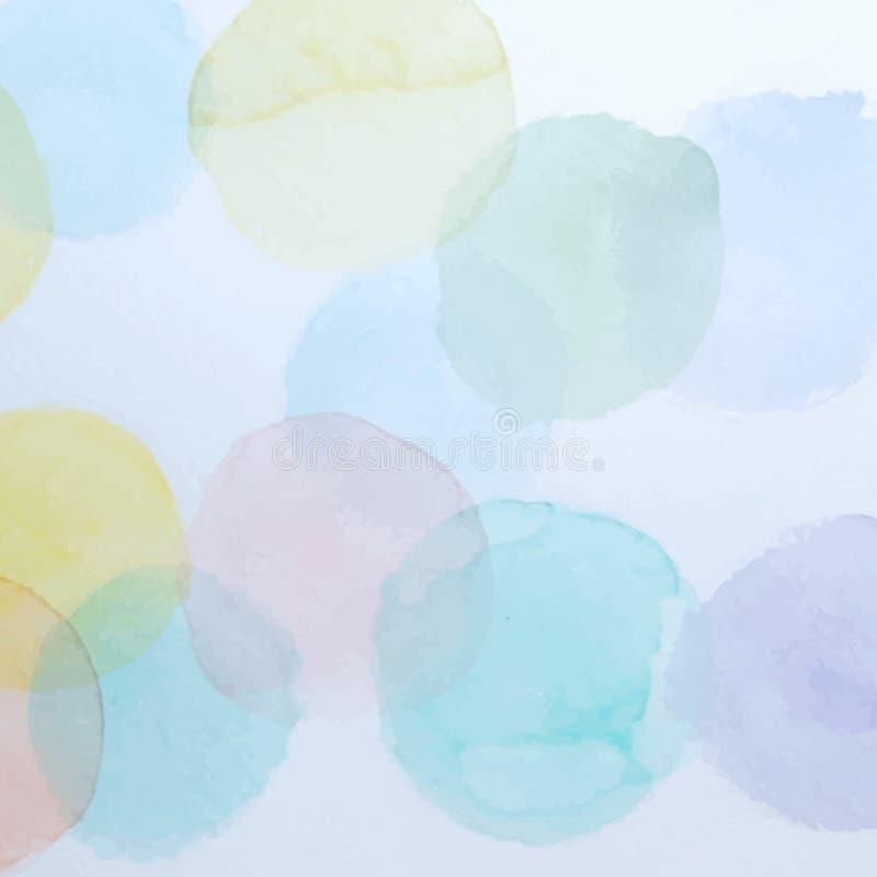 Achtergrond van waterverf de Kleurrijke Cirkels royalty-vrije illustratie