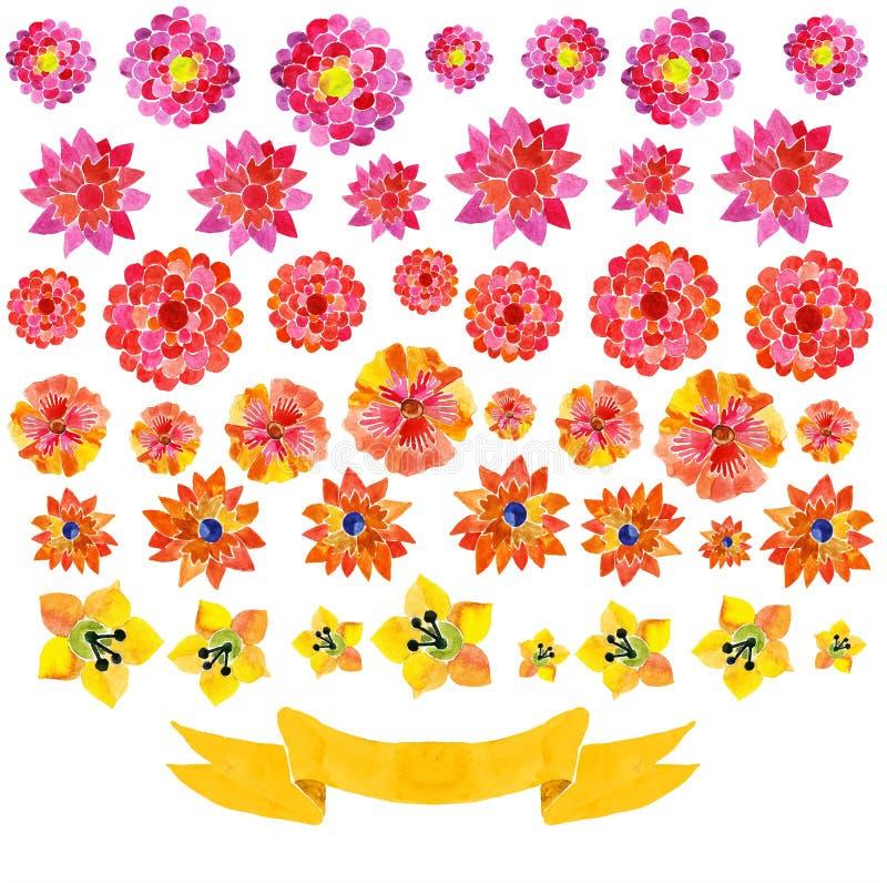 Download Achtergrond Van Waterverfbloemen Vector Illustratie - Illustratie bestaande uit vorm, nave: 54090198