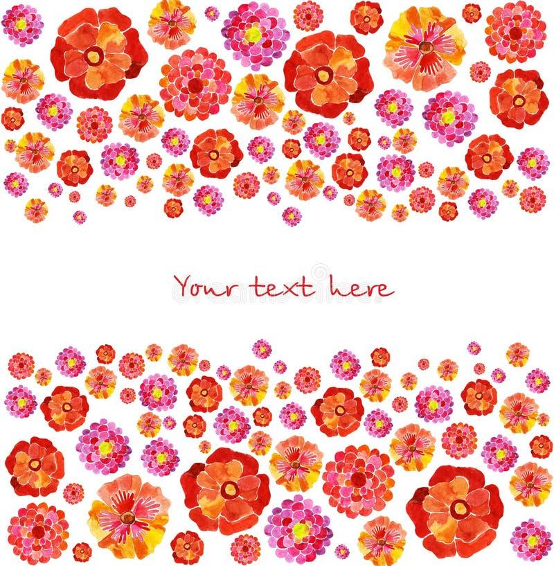 Download Achtergrond Van Waterverfbloemen Vector Illustratie - Illustratie bestaande uit overzicht, mooi: 54090199