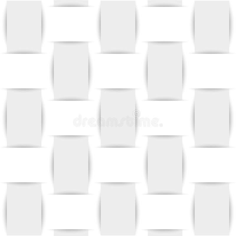 Achtergrond van wit geweven stof of document royalty-vrije illustratie