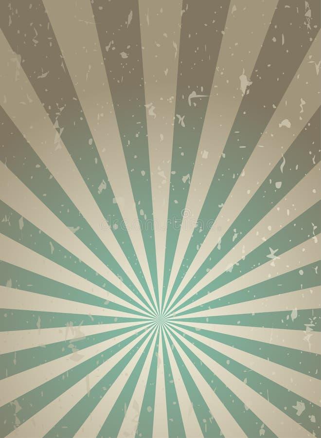 Achtergrond van zonlicht retro smalle grunge de groene en beige achtergrond van de kleurenuitbarsting stock illustratie