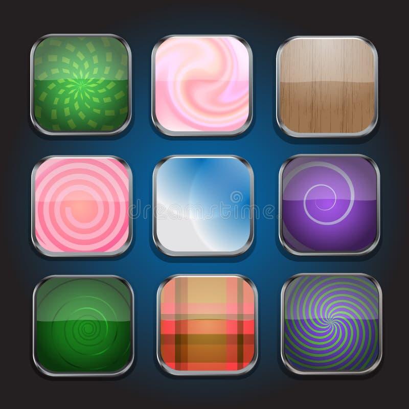 App pictogram-deel 1 stock illustratie